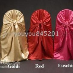 Gold Universal Chair Covers Banana Rocking Wholesale Satin For Wedding Party Hotel