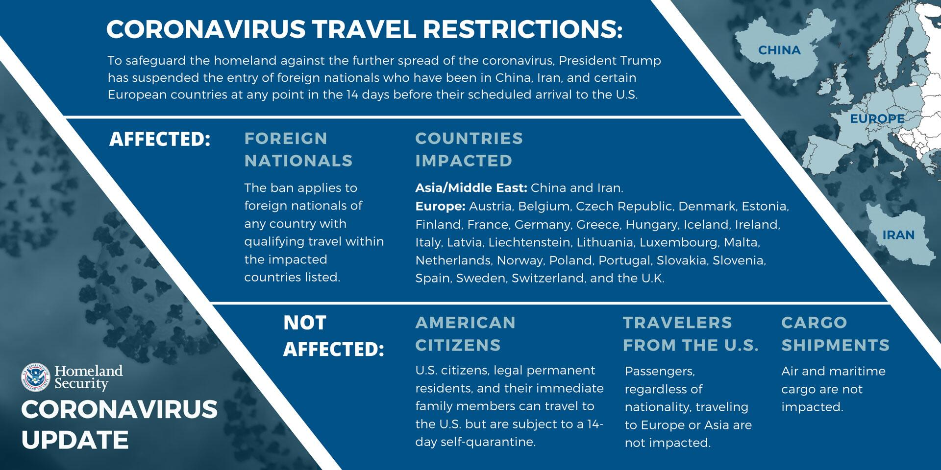 Fact Sheet: DHS Notice of Arrival Restrictions on China, Iran and ...