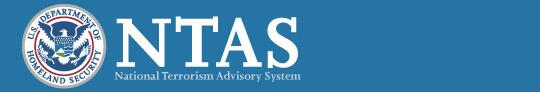 Department of Homeland Security Seal: National Terrorism Advisory System