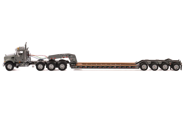 Mack Granite 8x4 W 4 Axle Flip Rogers Lowboy