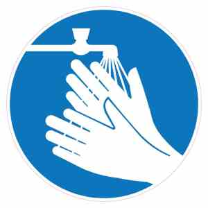 Corona-sticker-handen-wassen-verplicht