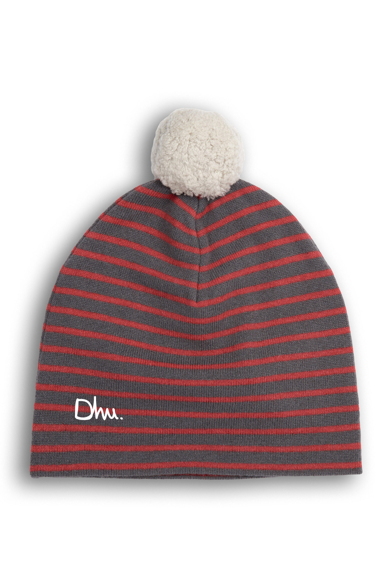 LoudElephant Chunky Wool Cable Knit Big Baggy Slouch · Dome Stripe Bobble  Hat Dhu d1ab572c2967