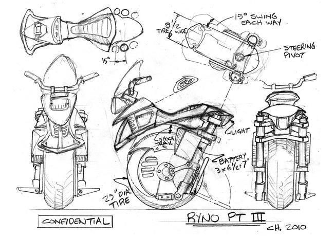 RYNO: 'motociclo' eléctrico diseñado por Chris Hoffmann