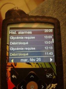 Historique des alarmes