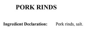 pork rind ingredients