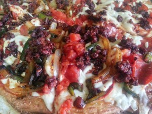 Beautiful shot of the best pizza for diabetics!