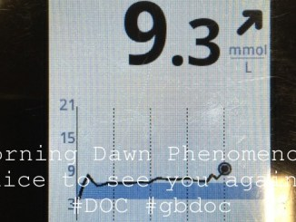 Morning Dawn Phenomenon, nice to see you again… #DOC #gbdoc
