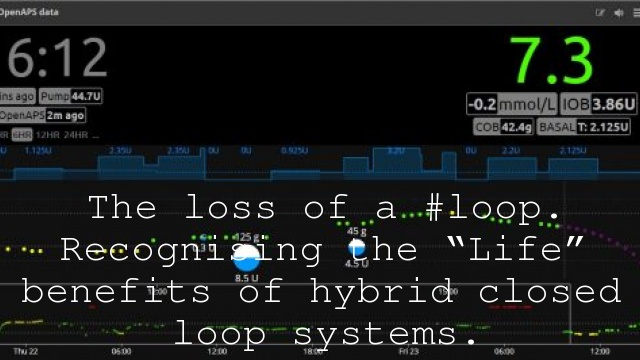 "The loss of a #loop. Recognising the ""Life"" benefits of hybrid closed loop systems."