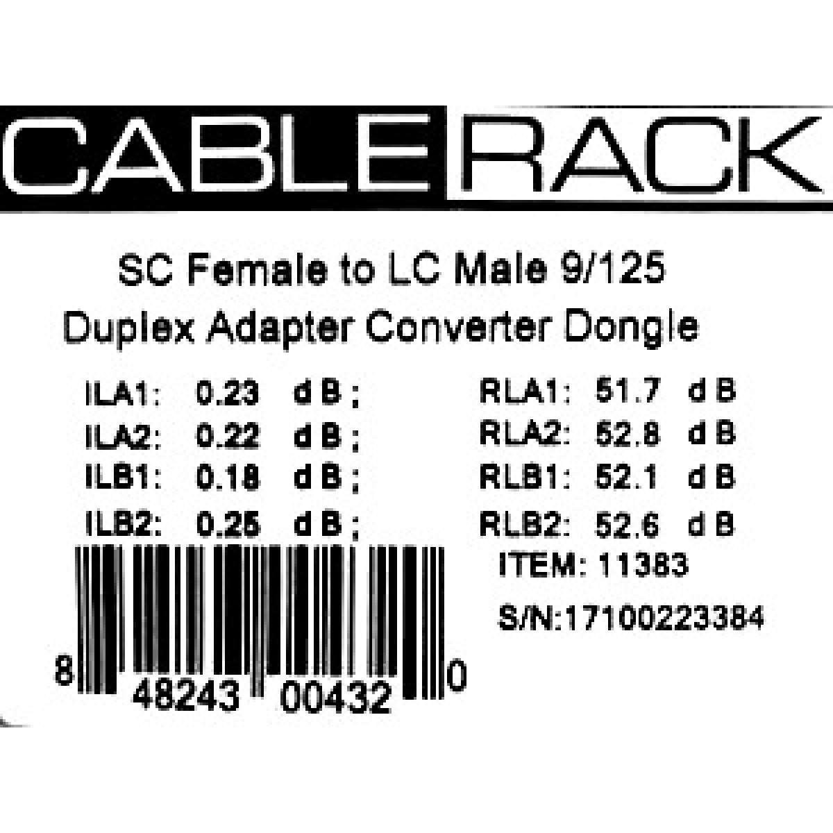 Sc Female To Lc Male 9 125 Singlemode Duplex Hybrid Adapter Converter Dongle