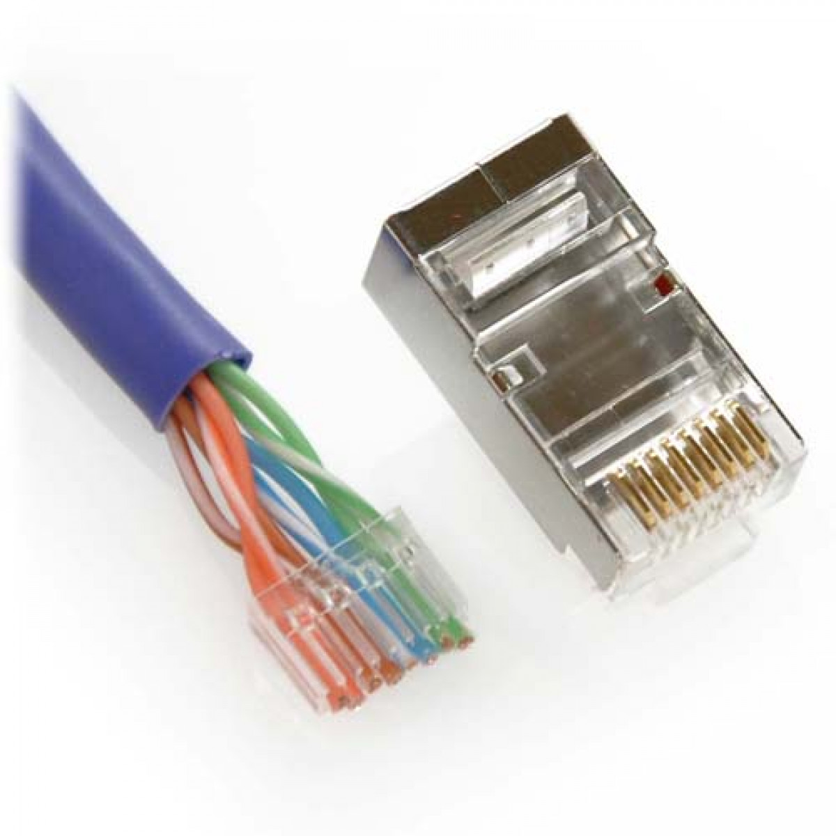 cat6 connector wiring diagram parts of a sheep shielded 8p8c crimp connectors with guide bar for