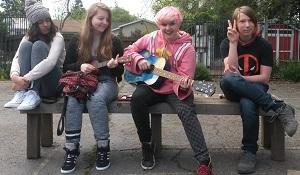teens playing music