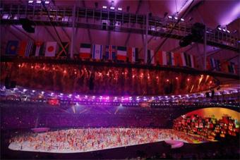 Cerimônia de abertura dos Jogos Olímpicos Rio 2016 no Estádio do Maracanã.  Foto  Fernando 734f6dc1c41a1