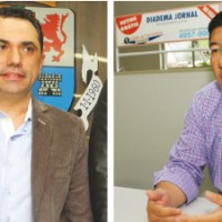 Vaguinho e Taka não negam encontro, mas desconversam sobre parceria. Foto: Eberly Laurindo
