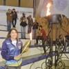 A atleta escolhida para carregar a tocha foi a campeã pan-americana sub-18 e sub-21 em 2017, Gabriella Mantena de Moraes, de 17 anos. Foto: Divulgação/PMSBC