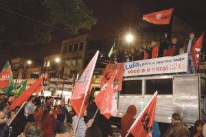 PT realiza ato de apoio ao ex-presidente Lula em Diadema