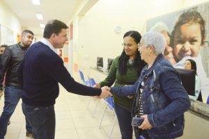 Morando visitou a Unidade Básica de Saúde nesta segunda-feira. foto: Ricardo Cassin/PMSBC