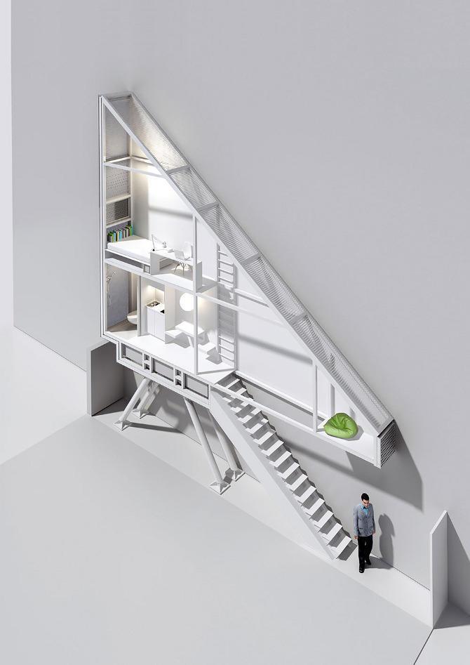 diaforetiko.gr : house 4 Το στενότερο σπίτι στον κόσμο έχει πλάτος περίπου ένα μέτρο αλλά χωρά τα πάντα!