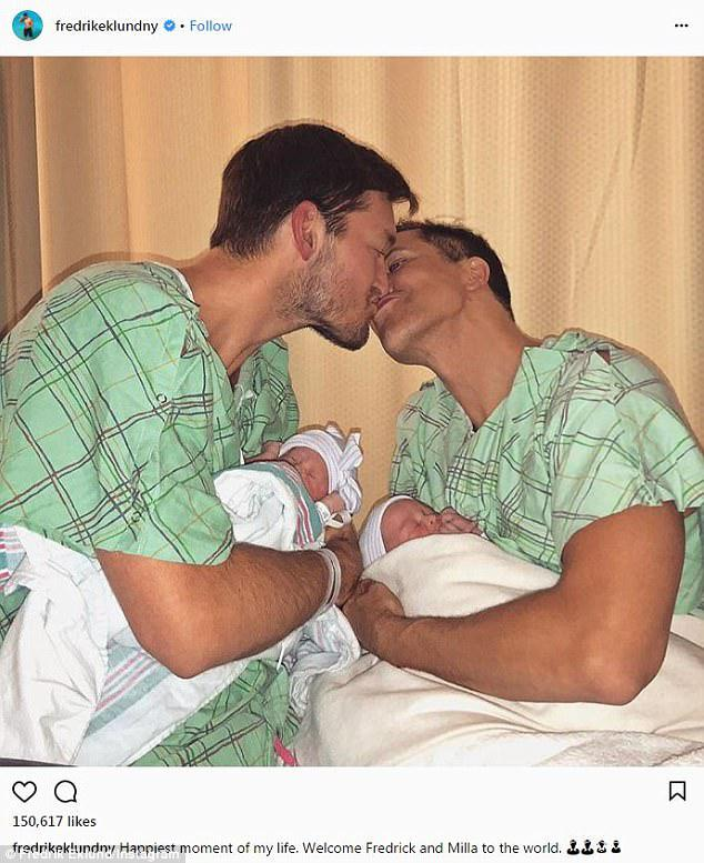 Happy day! Fredrick Eklund and husband Derek Kaplan are now the proud parents of twins