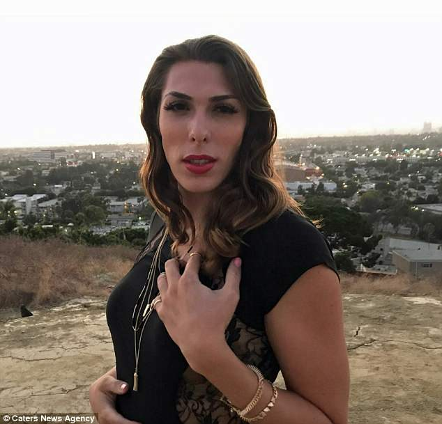 Alexander while living as Aria after spending $10,000 on her transition: Described as a 'bi-gender doll', he has lived as a man and a woman and even for a while as both