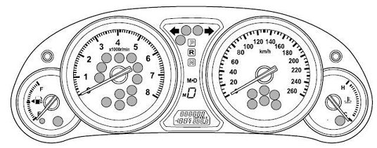 Mazda 3 Mk2 dash lights