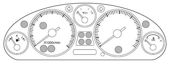 Mazda MX-5 Mk2 Car Warning Lights
