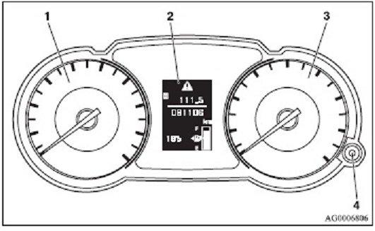 Mitsubishi Outlander Mk2 Car Warning Lights