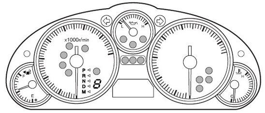 Mazda MX-5 Mk3 Dash Warning Lights