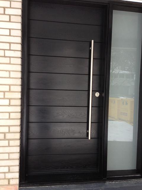 Wooden Outside Door  DIA HOME  Mediniai PVC langai