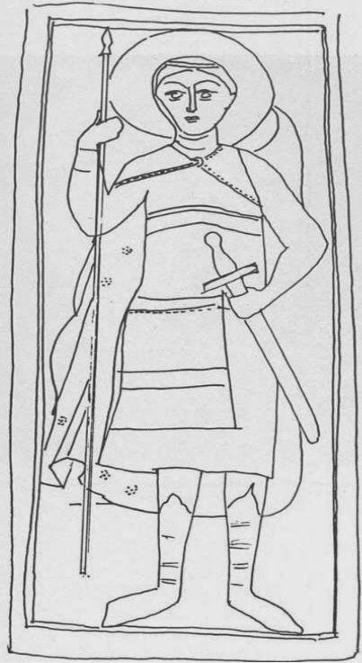 Το σκαρίφημα της γλυπτής εικόνας του Αγίου Δημητρίου.