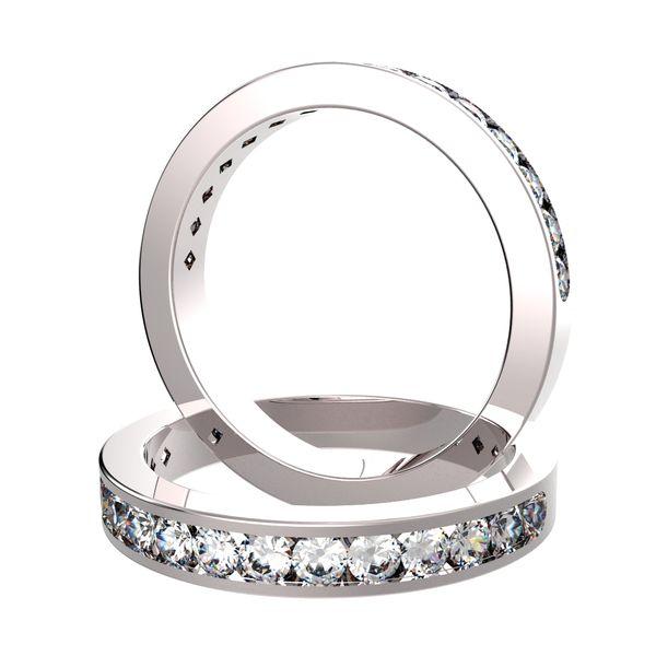 Diamant Halballianz Ring Platin