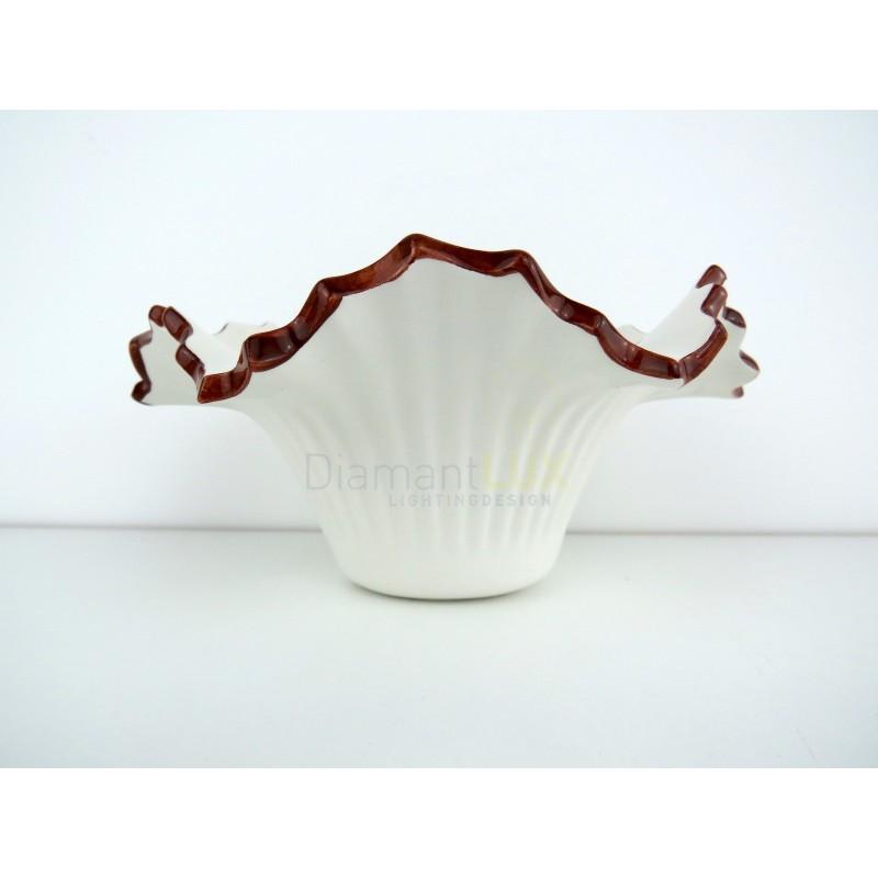 I prodotti sono fatti a mano, decorati con tecniche fiorentine e veneziane. Piatto In Ceramica Ricambio Per Lampadario Applique 14 Cm Dipinto A Mano