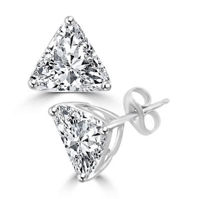 Trilliant Cut Diamond Essence Studs 2 0 Ct T W Set In