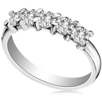 5 Stone Round Diamond Half Eternity Ring | DHHET180 ...