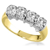 18ct Yellow Gold 4 Stone Diamond Rings