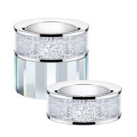 Set of 2 Swarovski Crystal Filled Tea Light Candle Holders