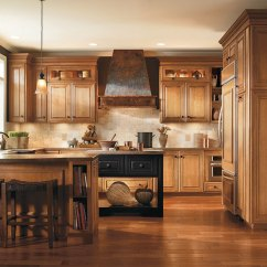 Hickory Shaker Style Kitchen Cabinets Faucet Reviews Caldwell Maple Coffee With Artisan Glazing