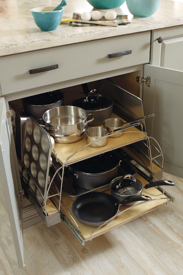 kitchen base cabinet pull outs pacific fan pots and pans pull-out - diamond cabinetry