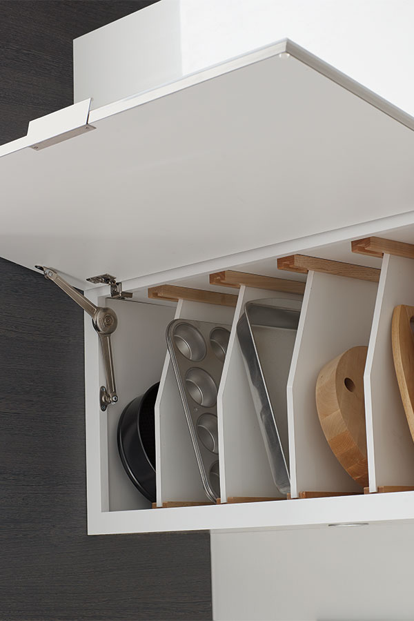 Wall Top Hinge Cabinet With Tray Divider Diamond