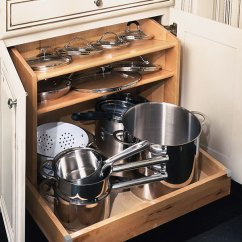 Kitchen Cabinets.com Navy Rug Base Pots And Pans Organizer - Diamond Cabinetry