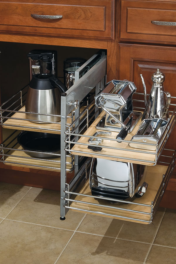kitchen cabinets.com top rated appliances base corner cabinet with pull-out - diamond cabinetry