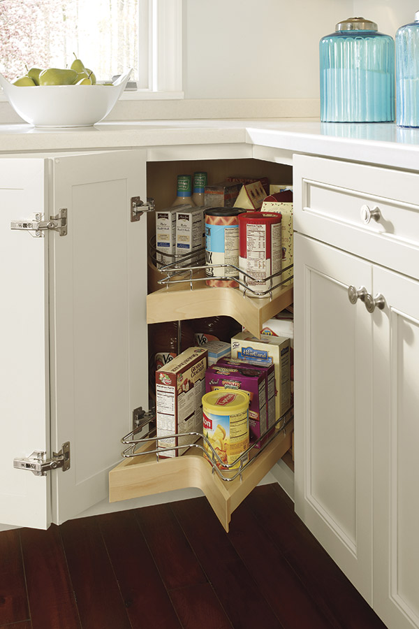 Lazy Susan Cabinet with Pullout  Diamond Cabinetry