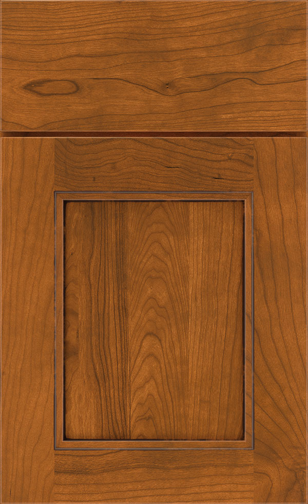 Whiskey Black Glaze Cabinet Finish on Cherry  Diamond
