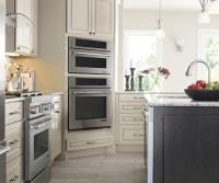Light Gray Kitchen Cabinets & Dark Gray Island - Diamond
