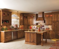 Rustic Alder Kitchen Cabinets - Diamond Cabinetry