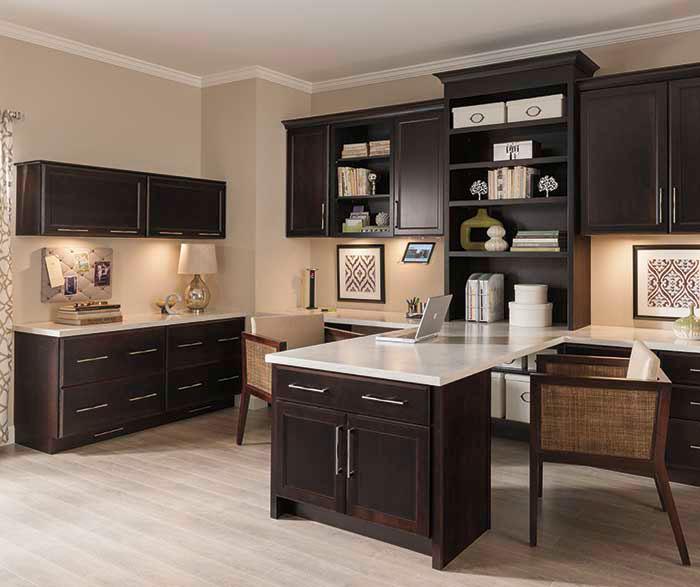 Office Cabinets in Dark Cherry Finish  Diamond Cabinets