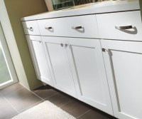 White Shaker Bathroom Cabinets - Diamond Cabinetry