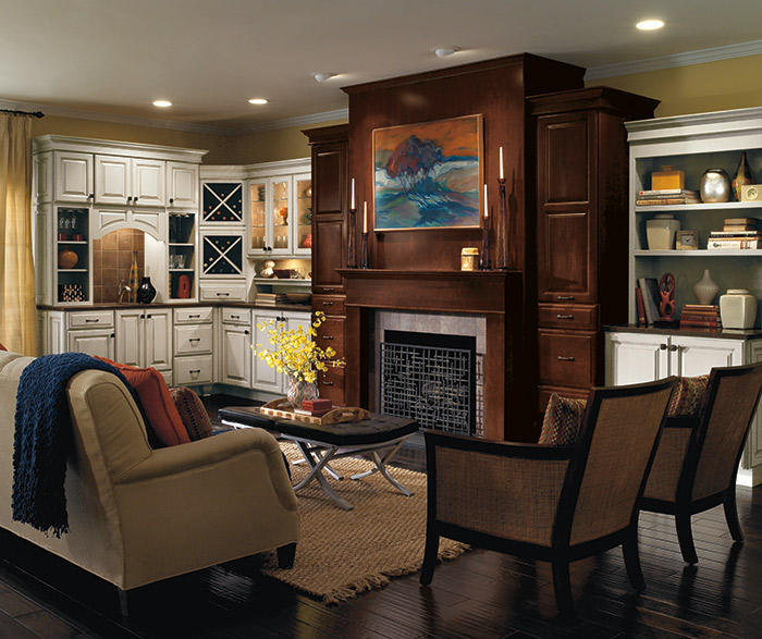 Living Room Cabinets In Contrasting Finishes Diamond
