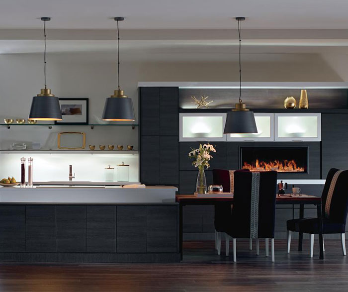 kitchen laminate small wood table contemporary cabinets diamond in woodgrain obsidian finish