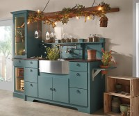 Blue Garden Storage Cabinets - Diamond Cabinetry