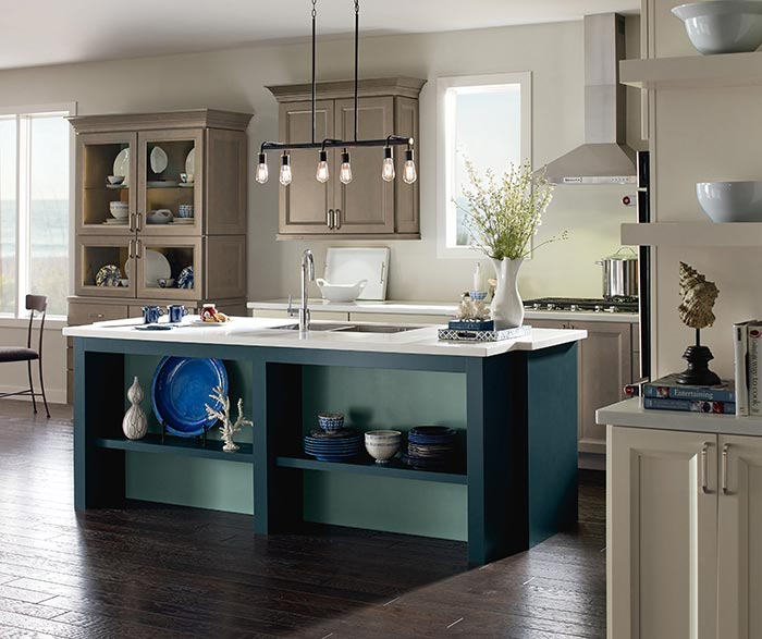 diamond kitchen cabinets mini island maple - cabinetry